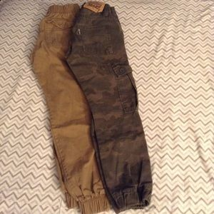 2 pairs of boys size 10 cotton joggers